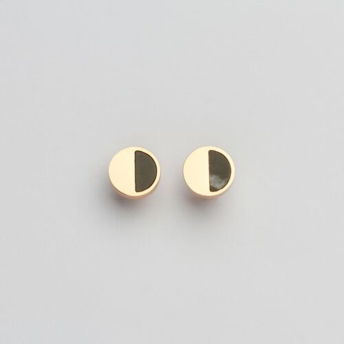 Muse Earrings (Marble/Rose Gold)