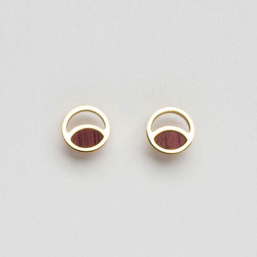 Perception Earrings (Amaranth/Gold)