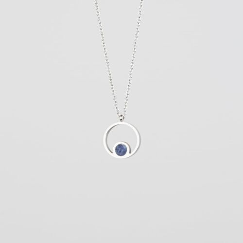 Pigment Necklace (Marble/Silver)