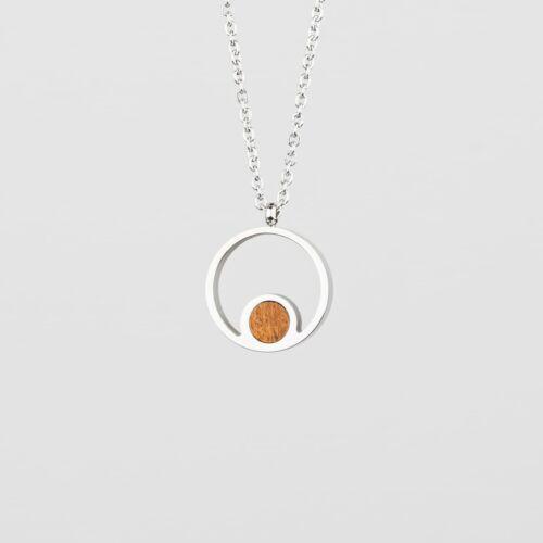 Pigment Necklace (Koa/Silver)