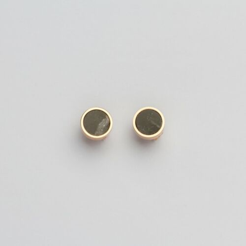 Pigment Earrings (Marble/Rose Gold)