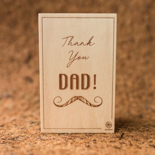 Wooden postcard Dad