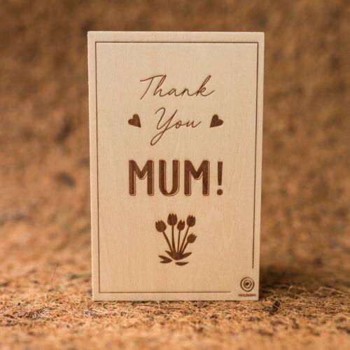 Wooden postcard Mum