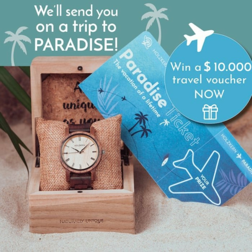 The Holzkern Ticket to Paradise - win a $10,000 travel voucher now