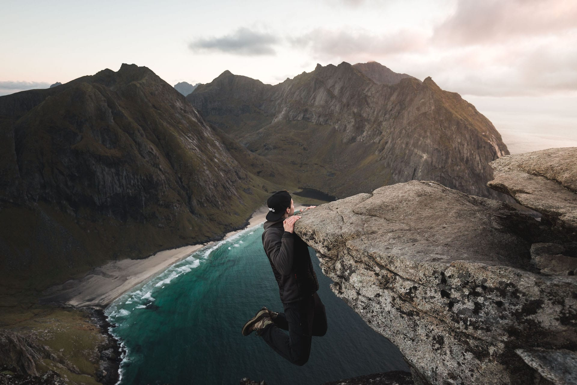 The Lofoten from above