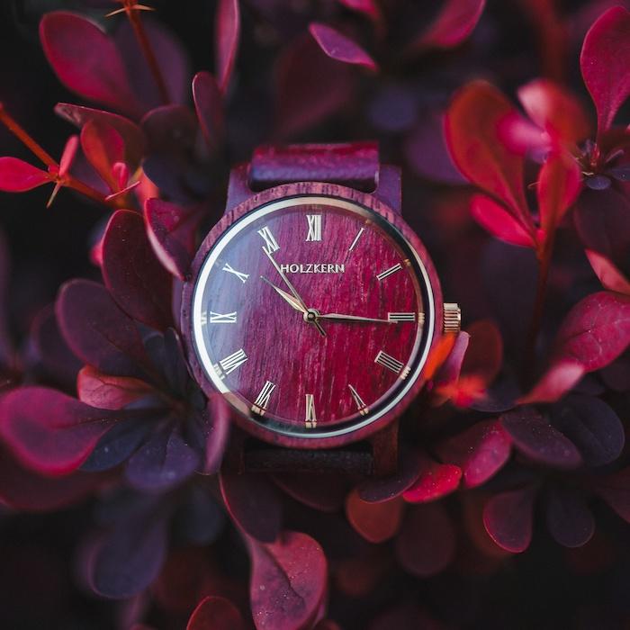 Rote Amaranth Uhren EN 3