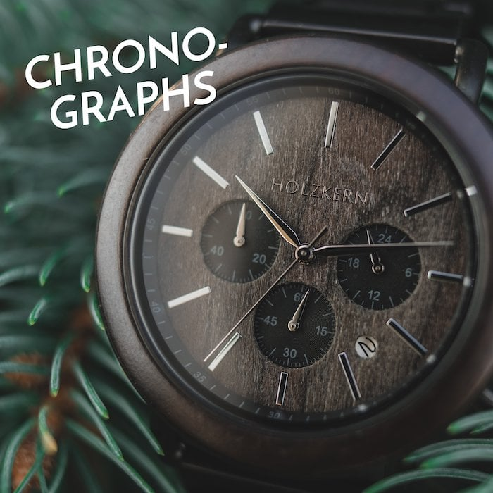 8 reasons for a chronograph of wood and stone