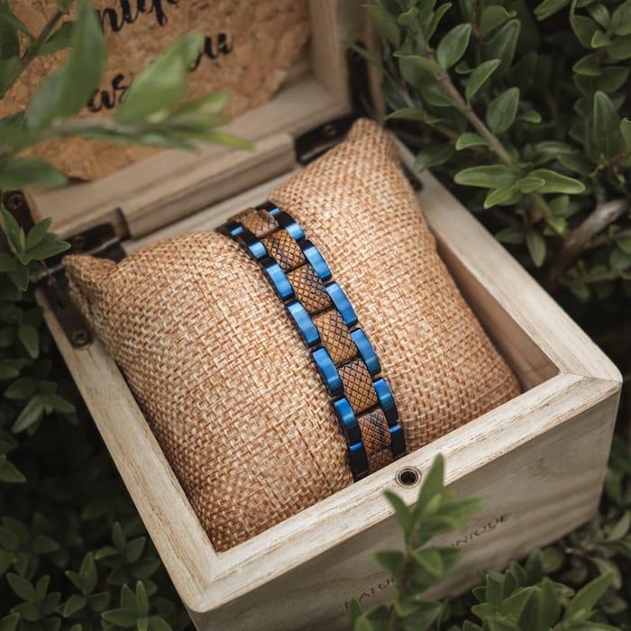 Zebrawood/Blue