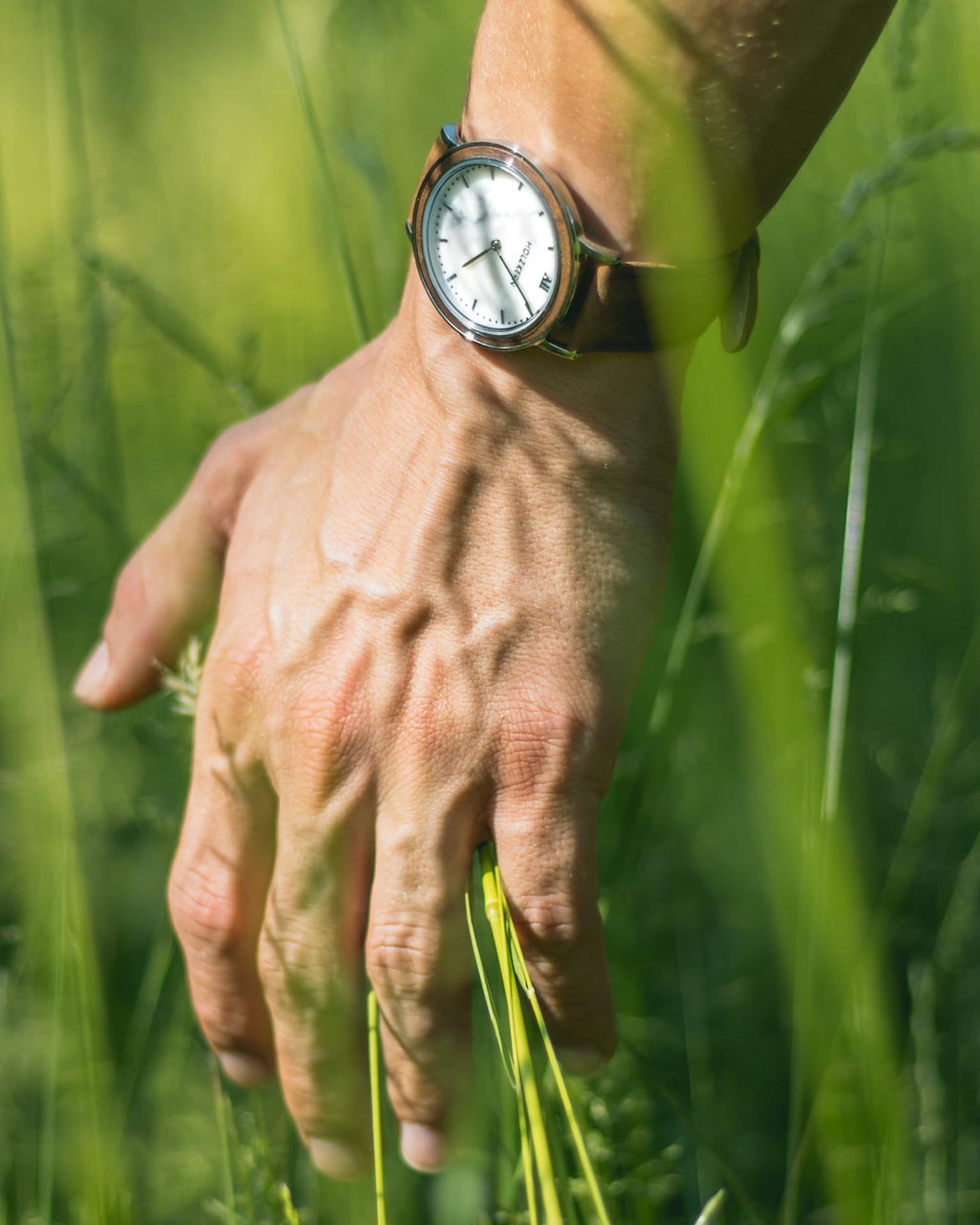 Hand im Gras