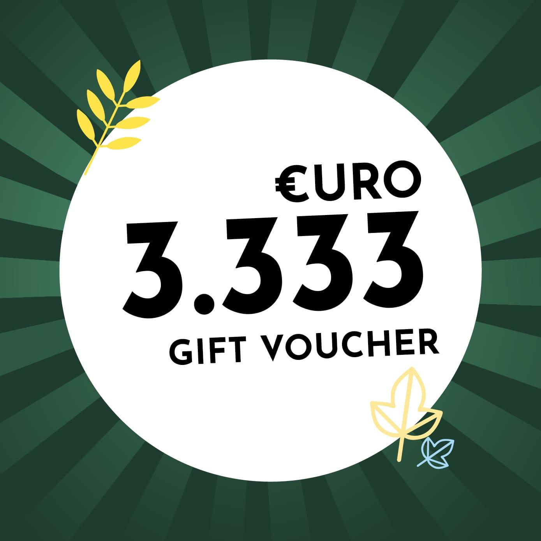 3.333€ Holzkern Gift Voucher