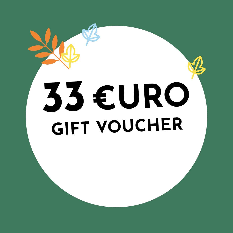 33€ Holzkern Gift Voucher