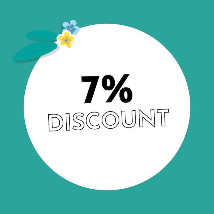 7% Discount Holzkern