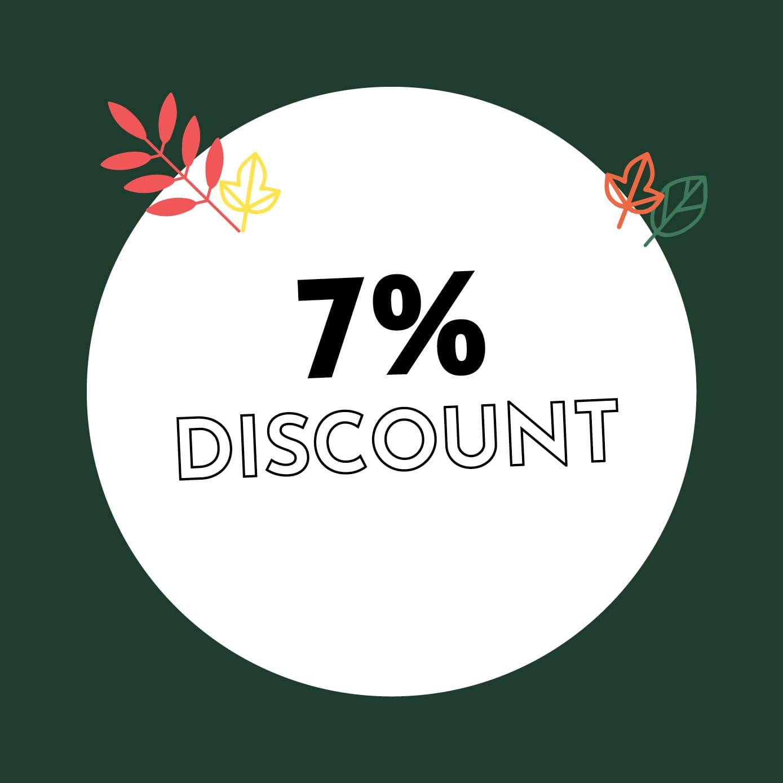 7% Discount